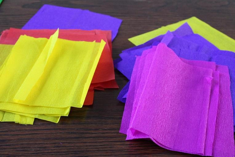 Papieren vierkantjes