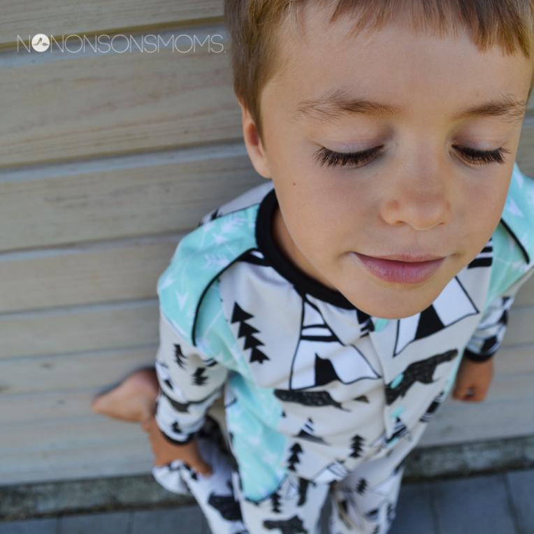 Wolf pyjama patroon zonen 09