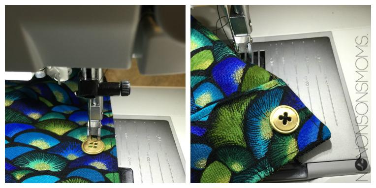 knopen met machine Collage