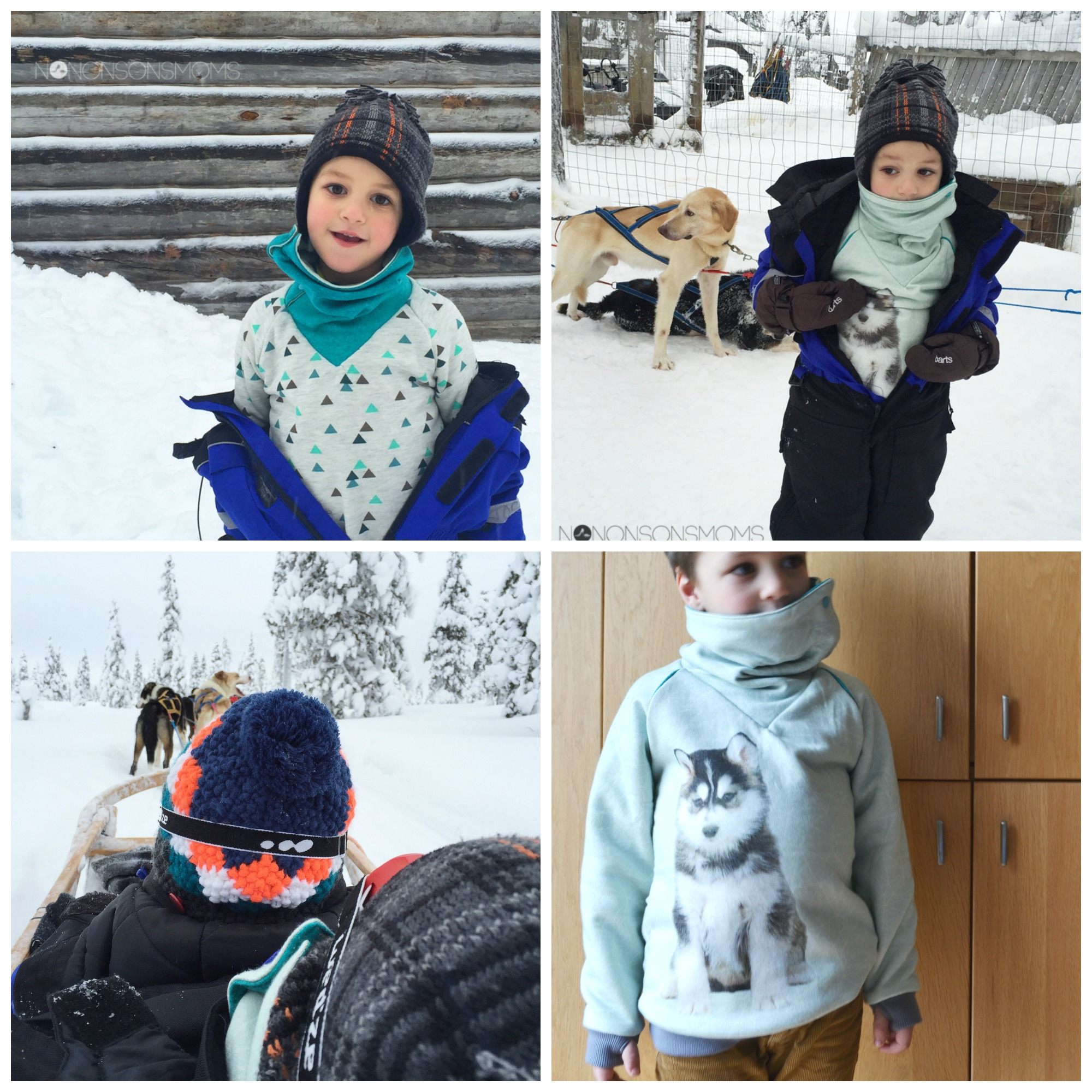 husky sweater Collage
